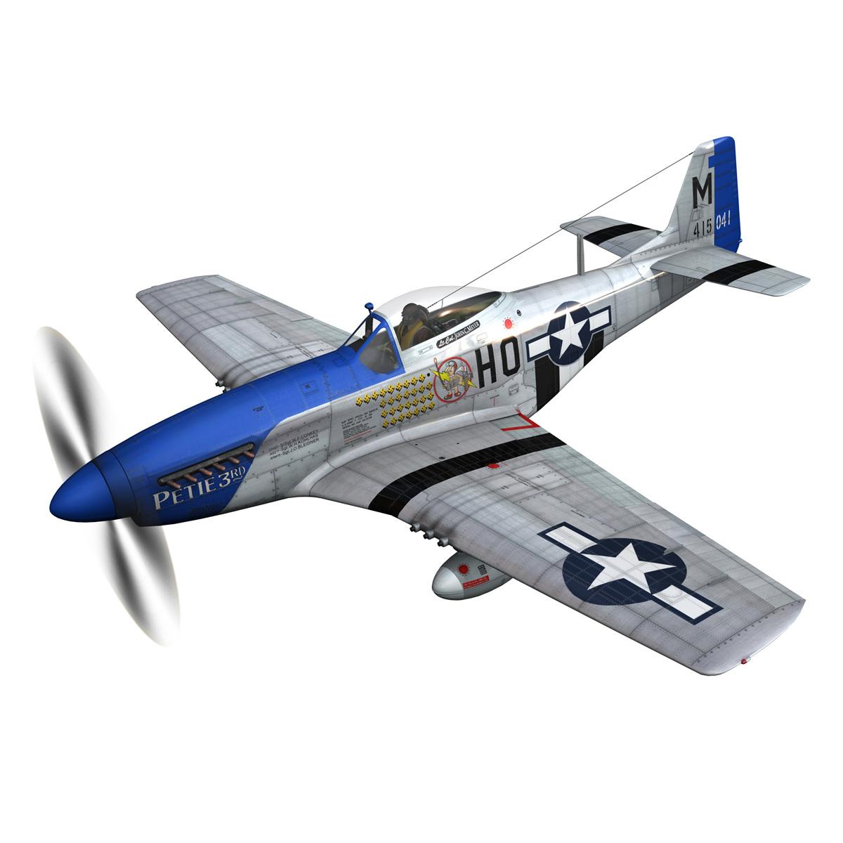 north american p-51d mustang – petie 3rd 3d model fbx c4d lwo obj 280129