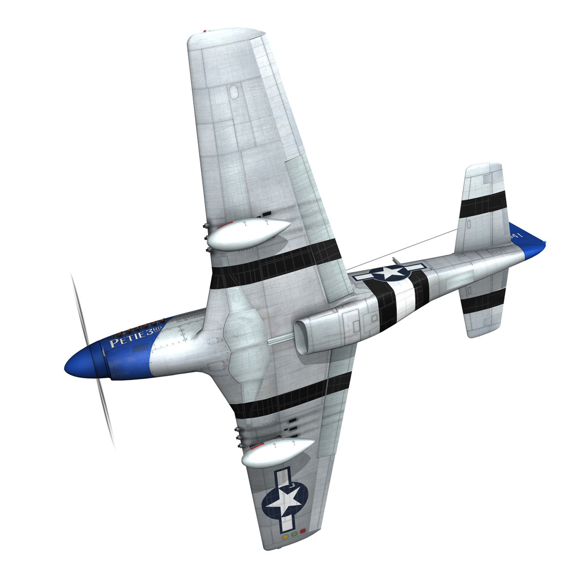 north american p-51d mustang – petie 3rd 3d model fbx c4d lwo obj 280130