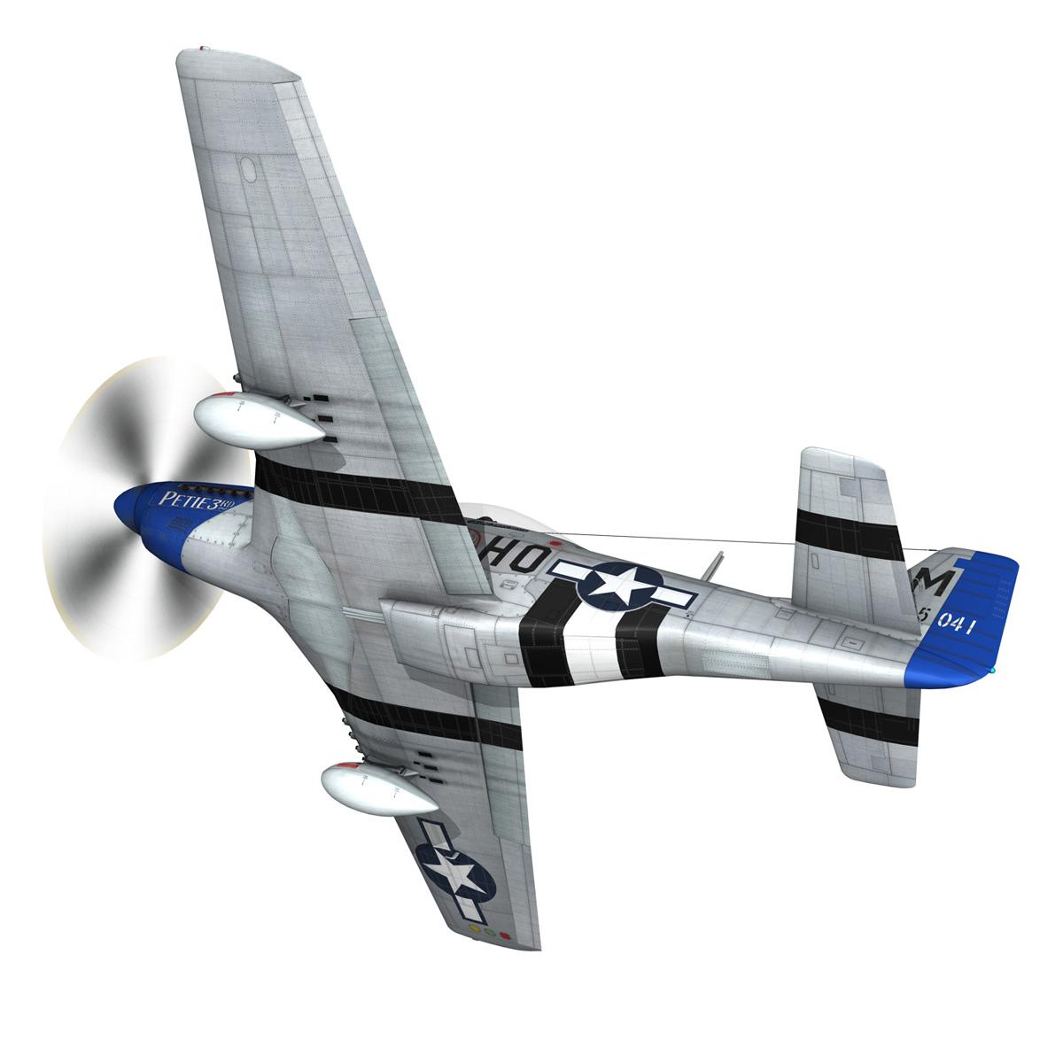 north american p-51d mustang – petie 3rd 3d model fbx c4d lwo obj 280131