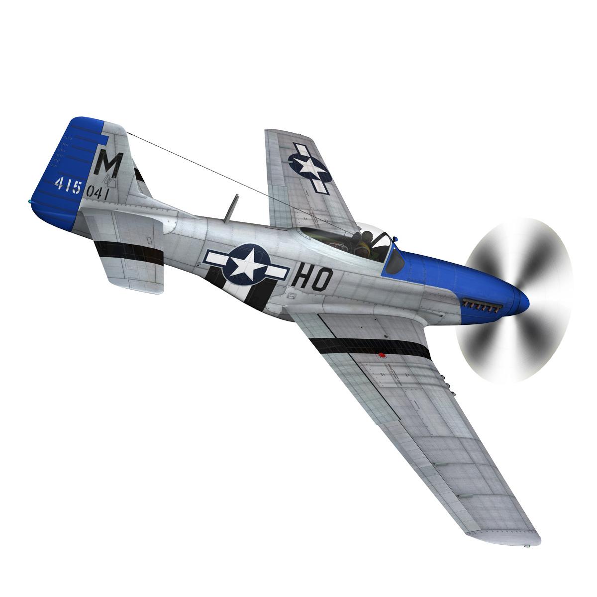 north american p-51d mustang – petie 3rd 3d model fbx c4d lwo obj 280132