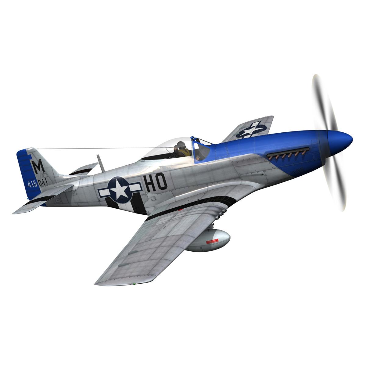 north american p-51d mustang – petie 3rd 3d model fbx c4d lwo obj 280133