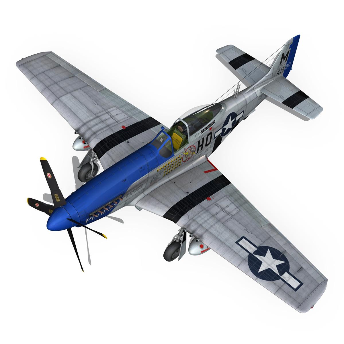 north american p-51d mustang – petie 3rd 3d model fbx c4d lwo obj 280136