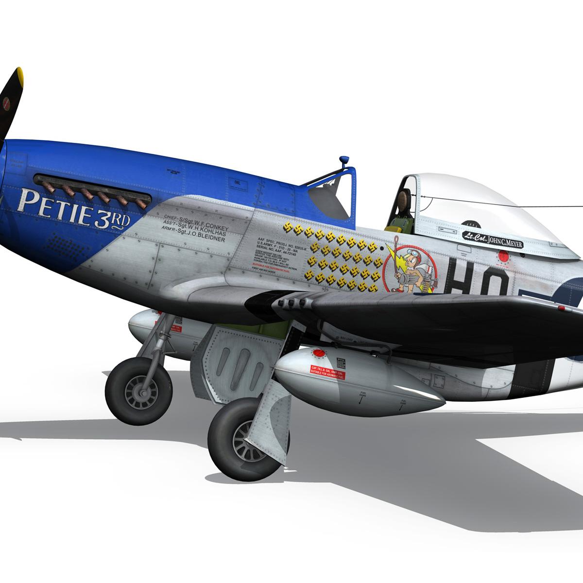 north american p-51d mustang – petie 3rd 3d model fbx c4d lwo obj 280137