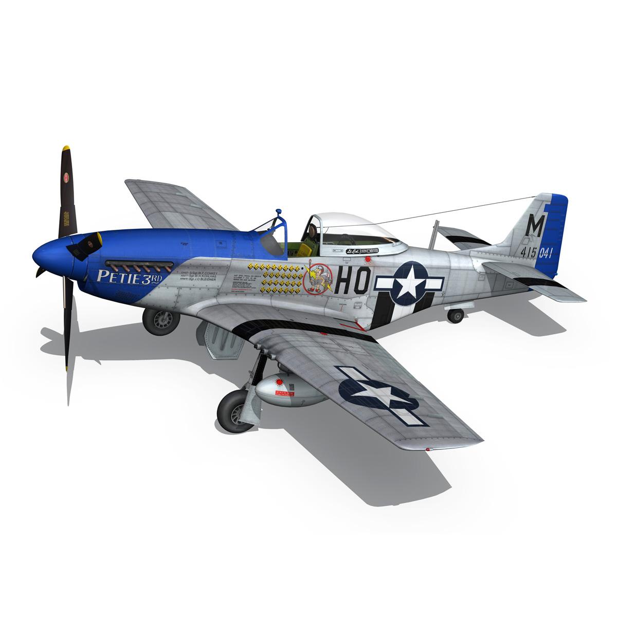 north american p-51d mustang – petie 3rd 3d model fbx c4d lwo obj 280138