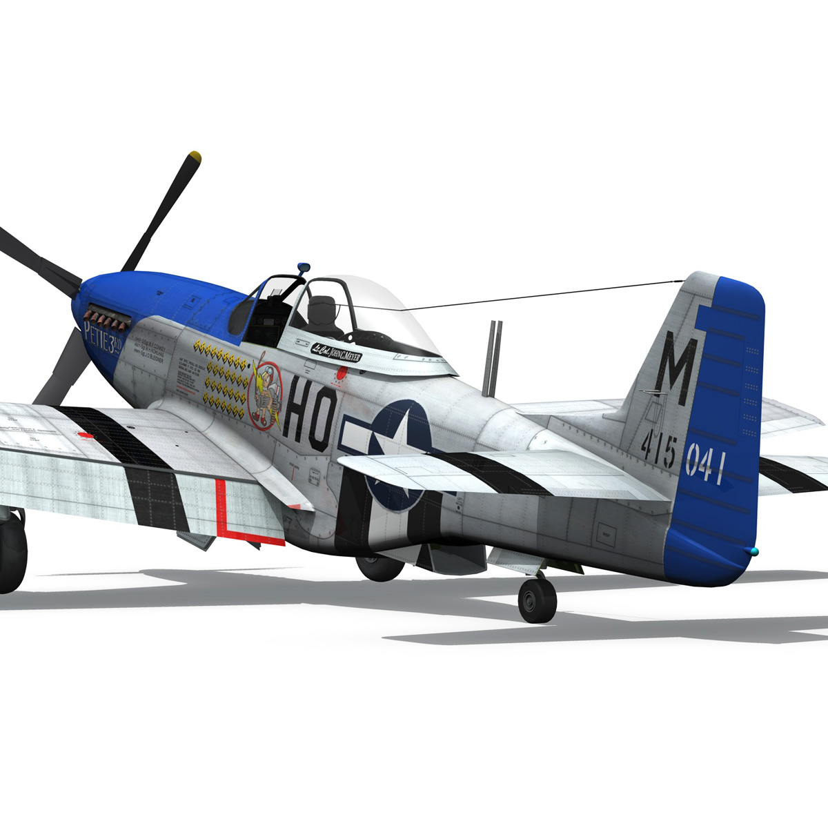 north american p-51d mustang – petie 3rd 3d model fbx c4d lwo obj 280139