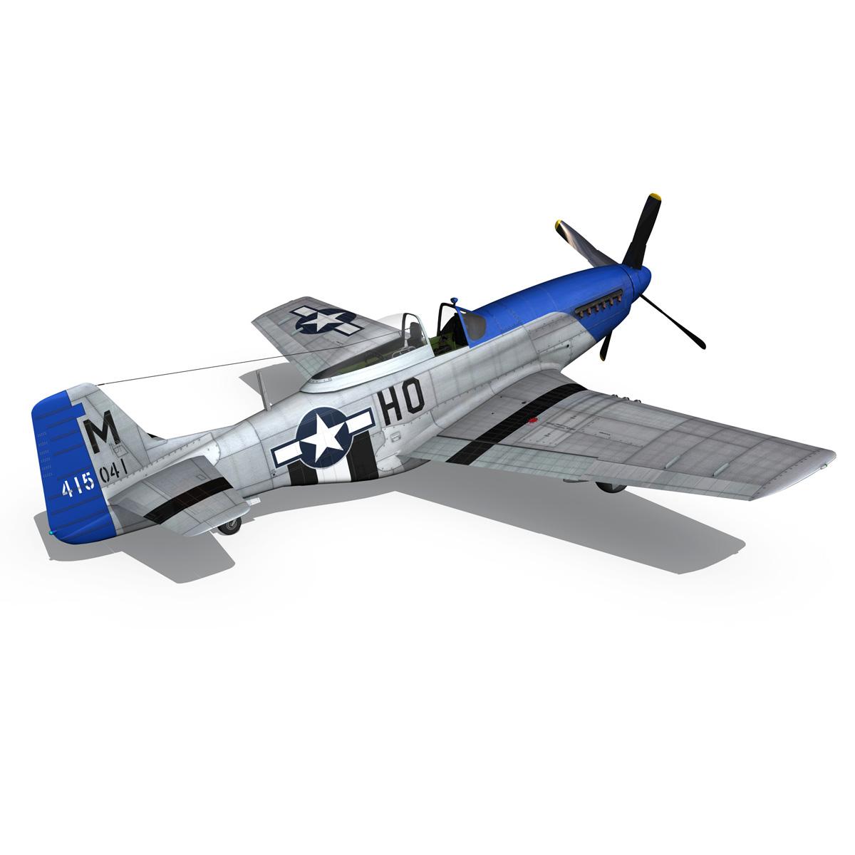 north american p-51d mustang – petie 3rd 3d model fbx c4d lwo obj 280140