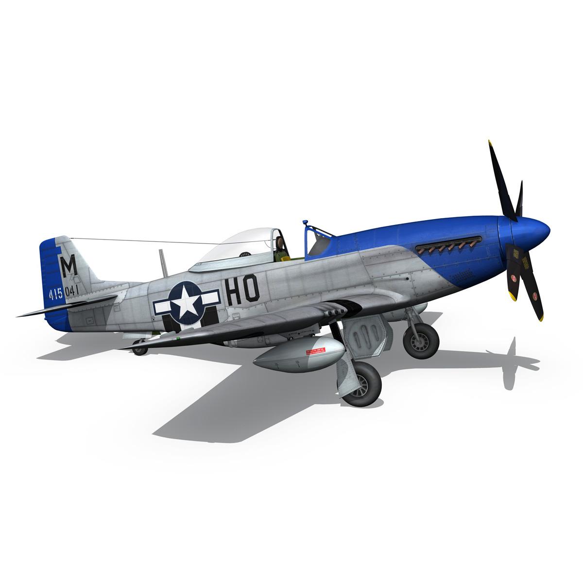 north american p-51d mustang – petie 3rd 3d model fbx c4d lwo obj 280141
