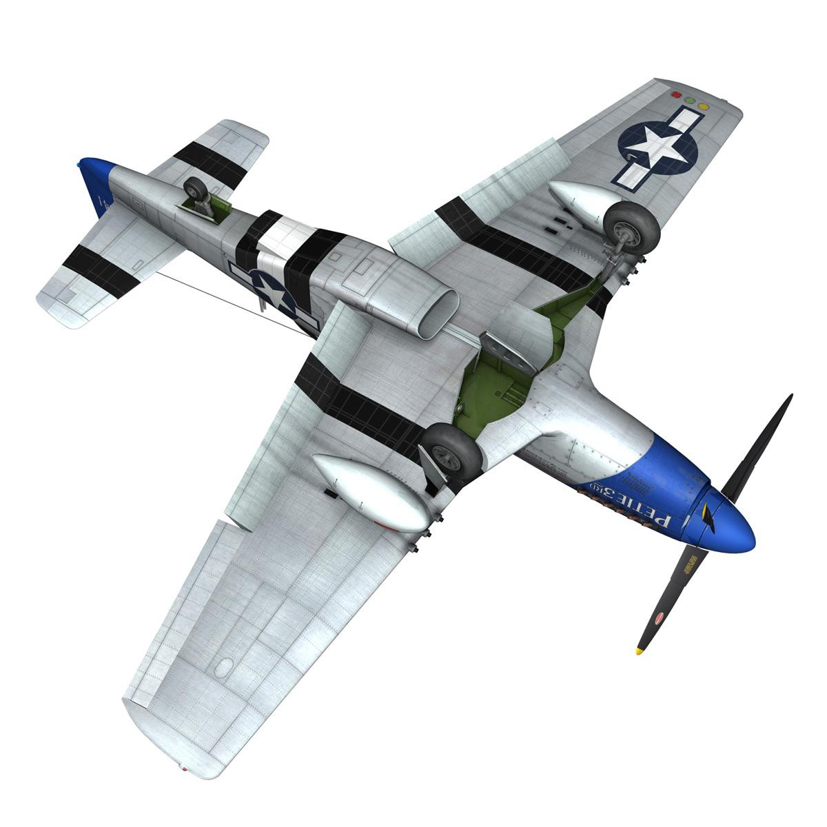 north american p-51d mustang – petie 3rd 3d model fbx c4d lwo obj 280142