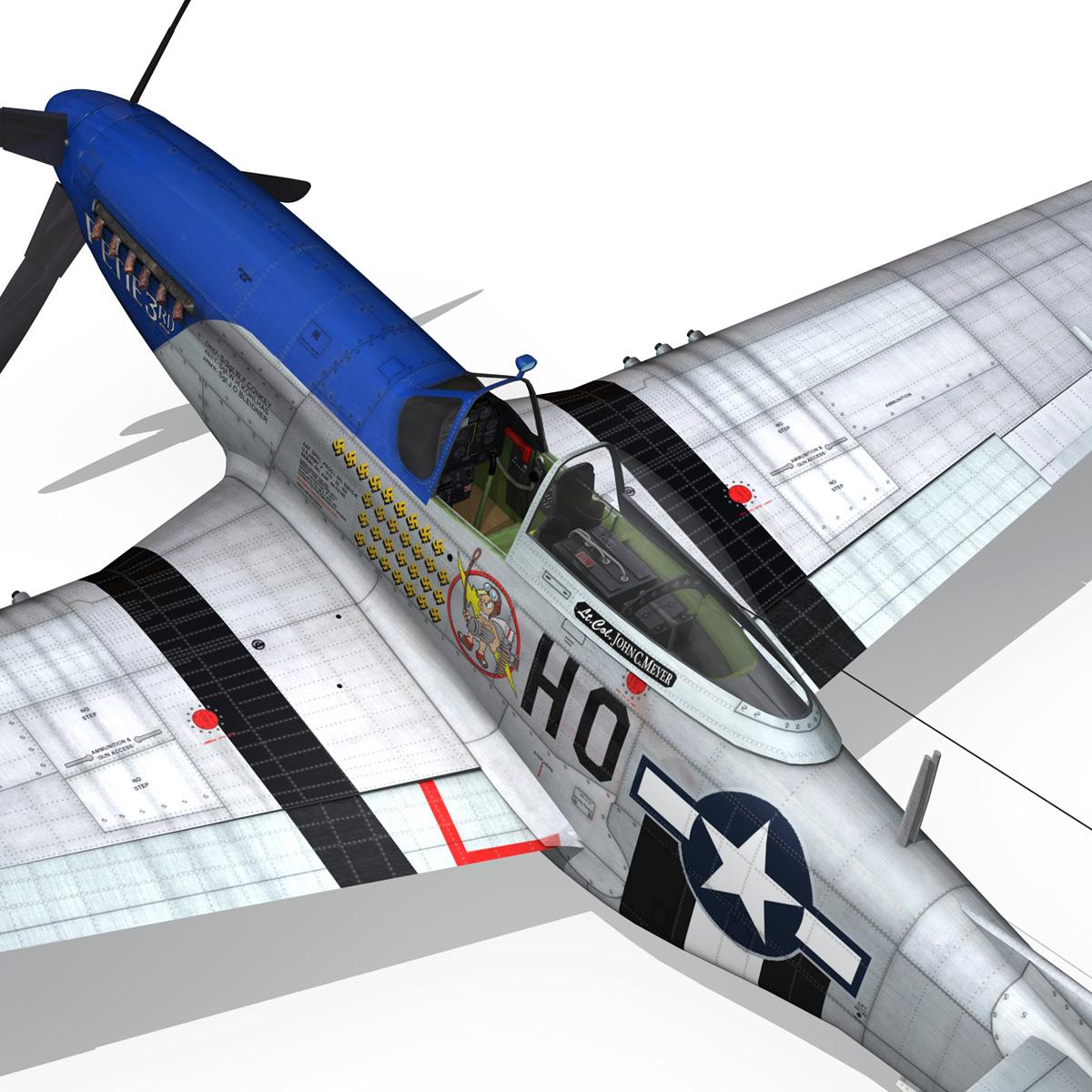 north american p-51d mustang – petie 3rd 3d model fbx c4d lwo obj 280143