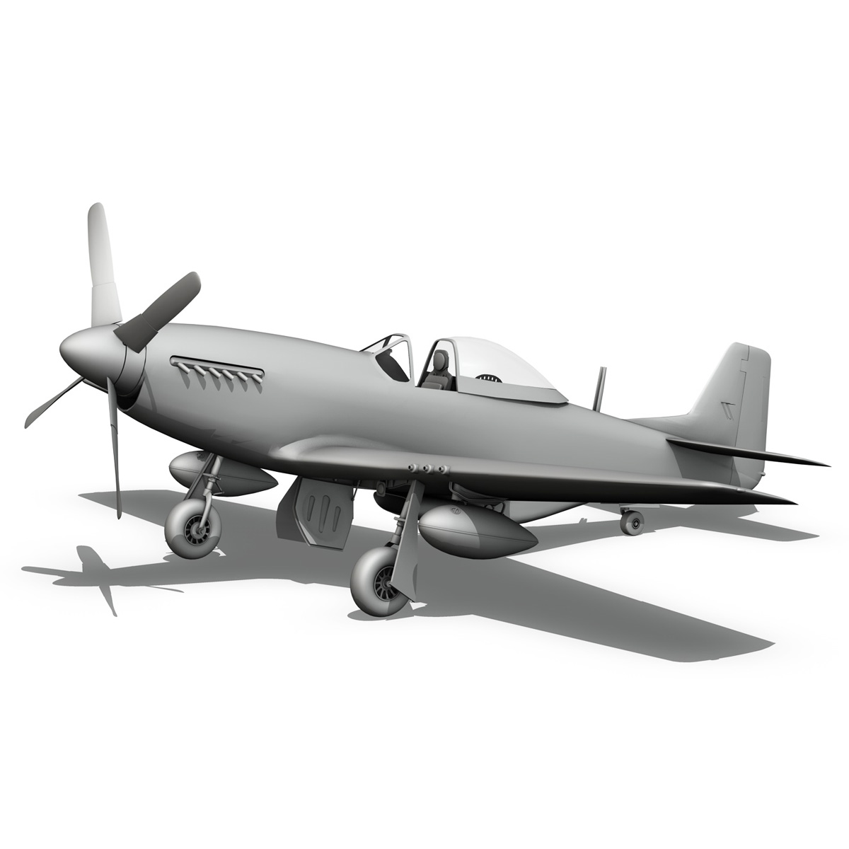 north american p-51d mustang – petie 3rd 3d model fbx c4d lwo obj 280145