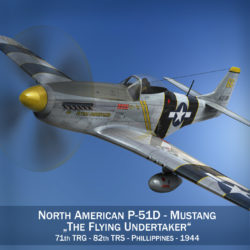 North American P-51D Mustang - Flying Undertaker 3d model high poly virtual reality fbx c4d lwo lws lw obj