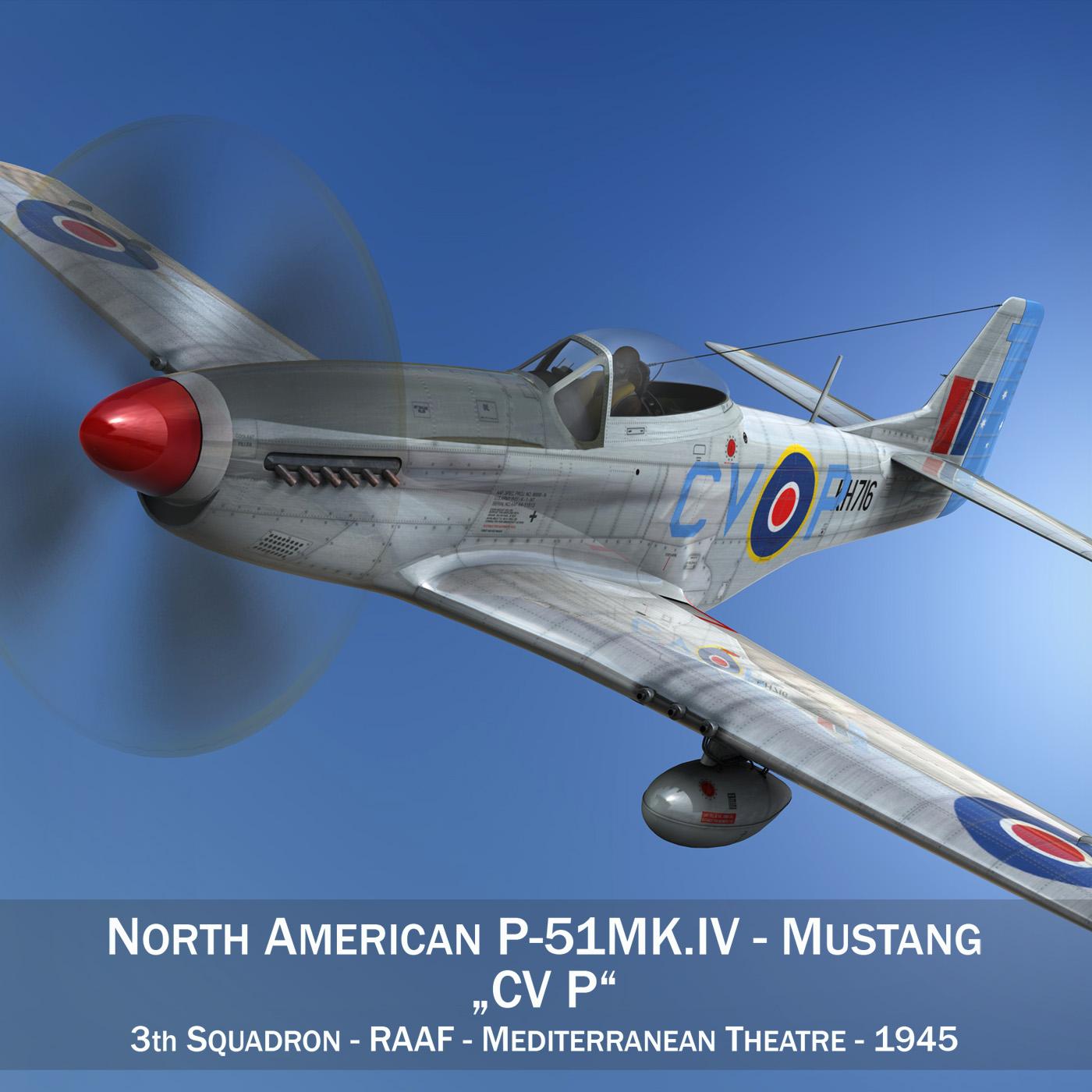north american p-51k mustang mk.iv – raaf 3d model fbx c4d lwo obj 280271
