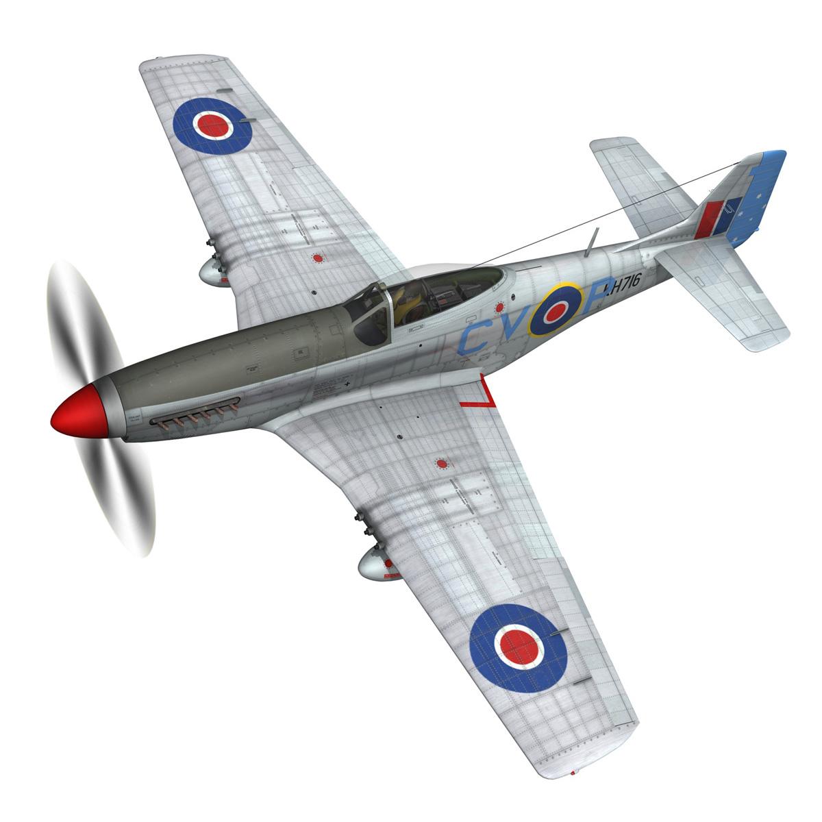 north american p-51k mustang mk.iv – raaf 3d model fbx c4d lwo obj 280273