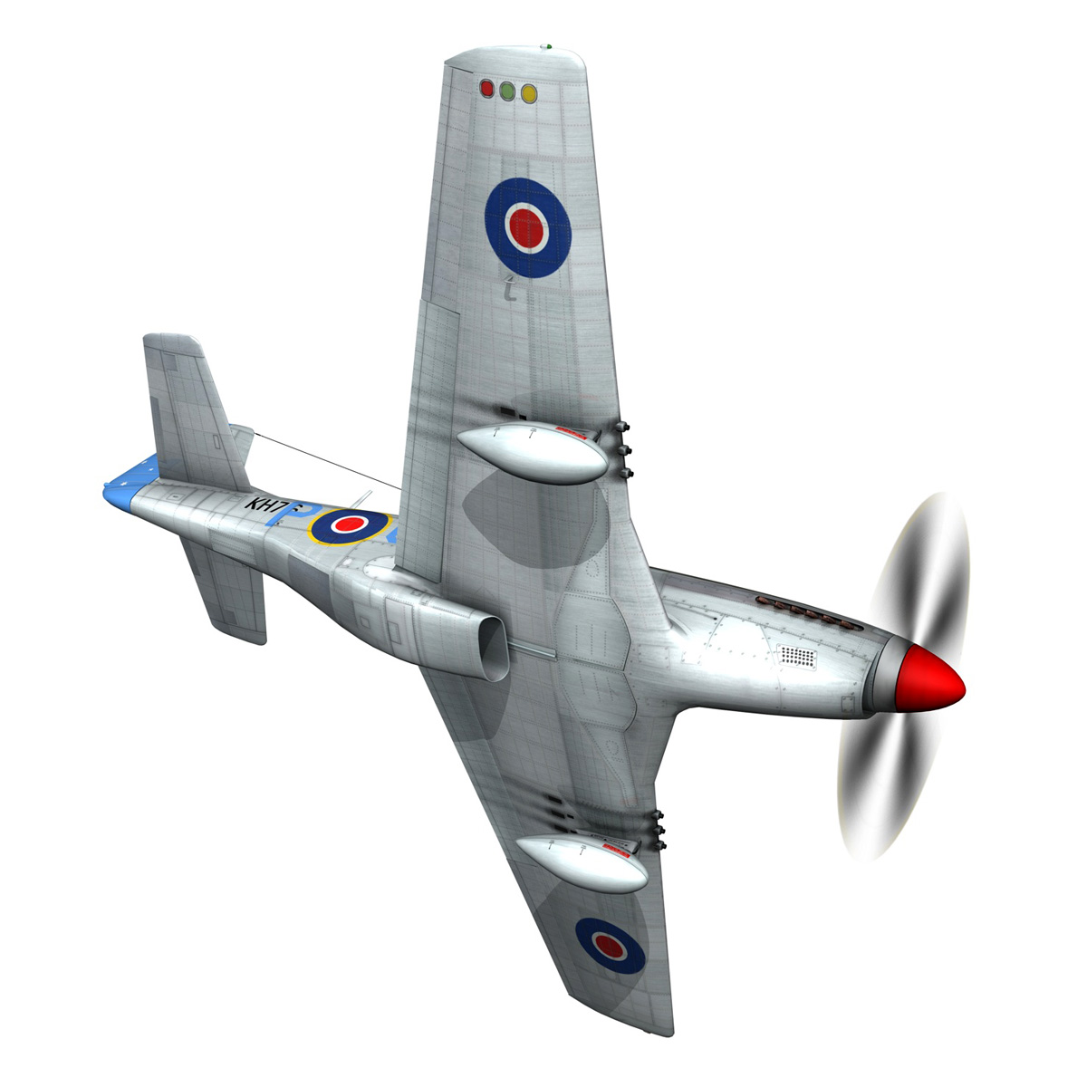 north american p-51k mustang mk.iv – raaf 3d model fbx c4d lwo obj 280278