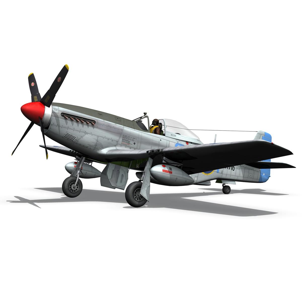 north american p-51k mustang mk.iv – raaf 3d model fbx c4d lwo obj 280281
