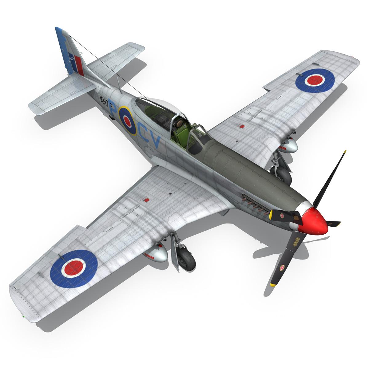 north american p-51k mustang mk.iv – raaf 3d model fbx c4d lwo obj 280286