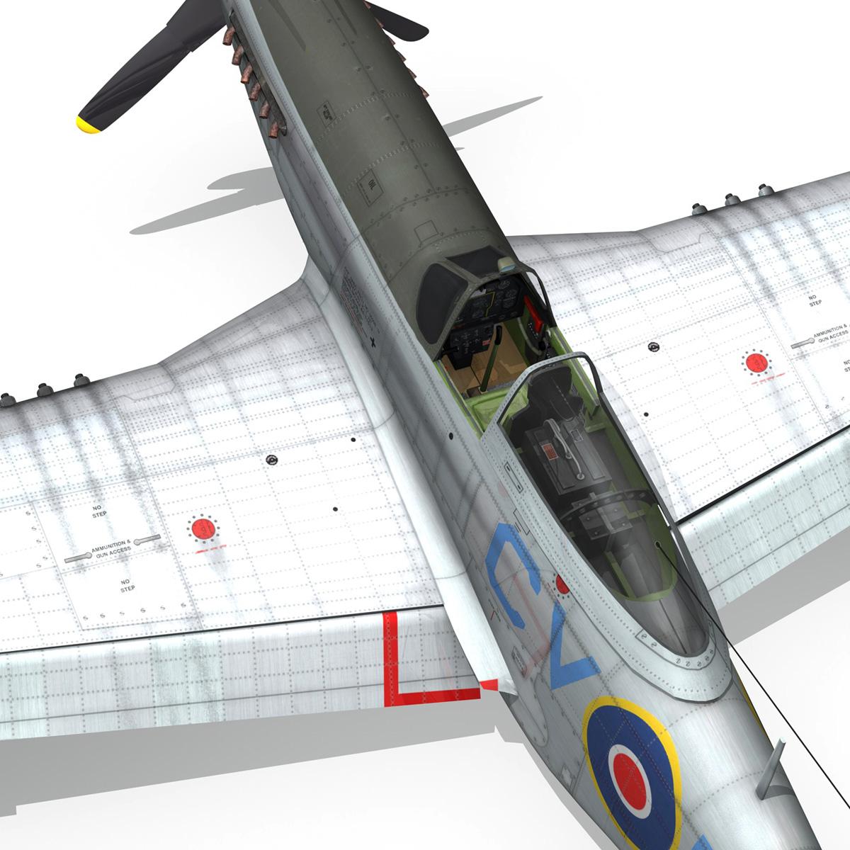 north american p-51k mustang mk.iv – raaf 3d model fbx c4d lwo obj 280287