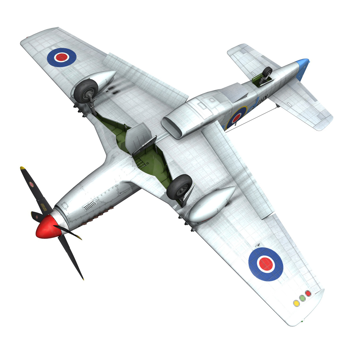 north american p-51k mustang mk.iv – raaf 3d model fbx c4d lwo obj 280288