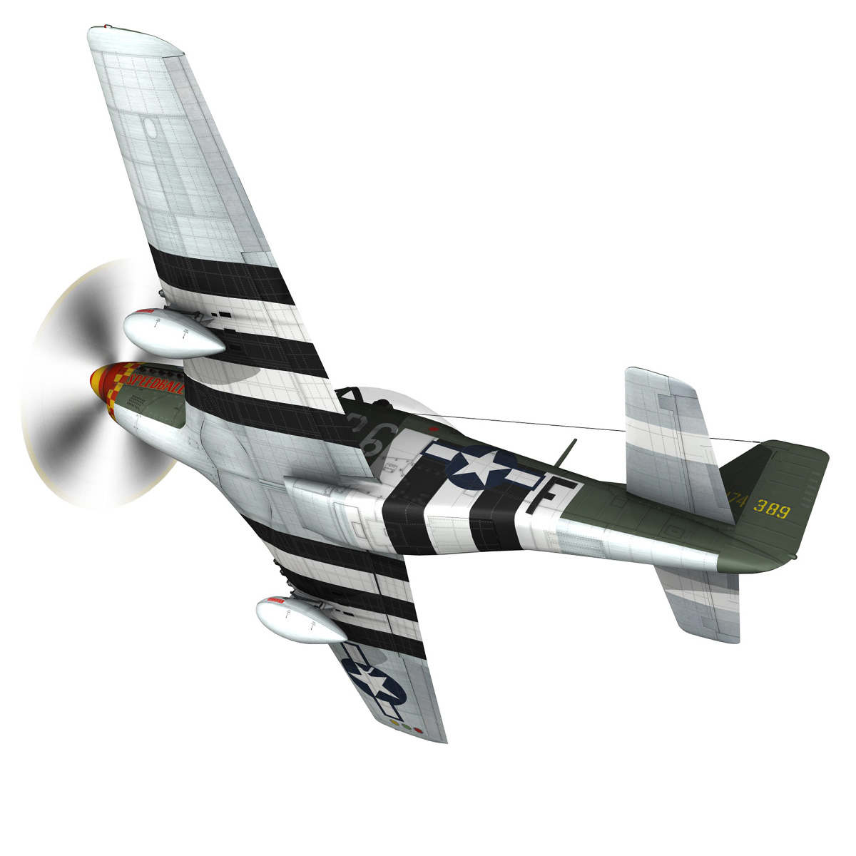 north american p-51d mustang – speedball alice 3d model fbx c4d lwo obj 280313