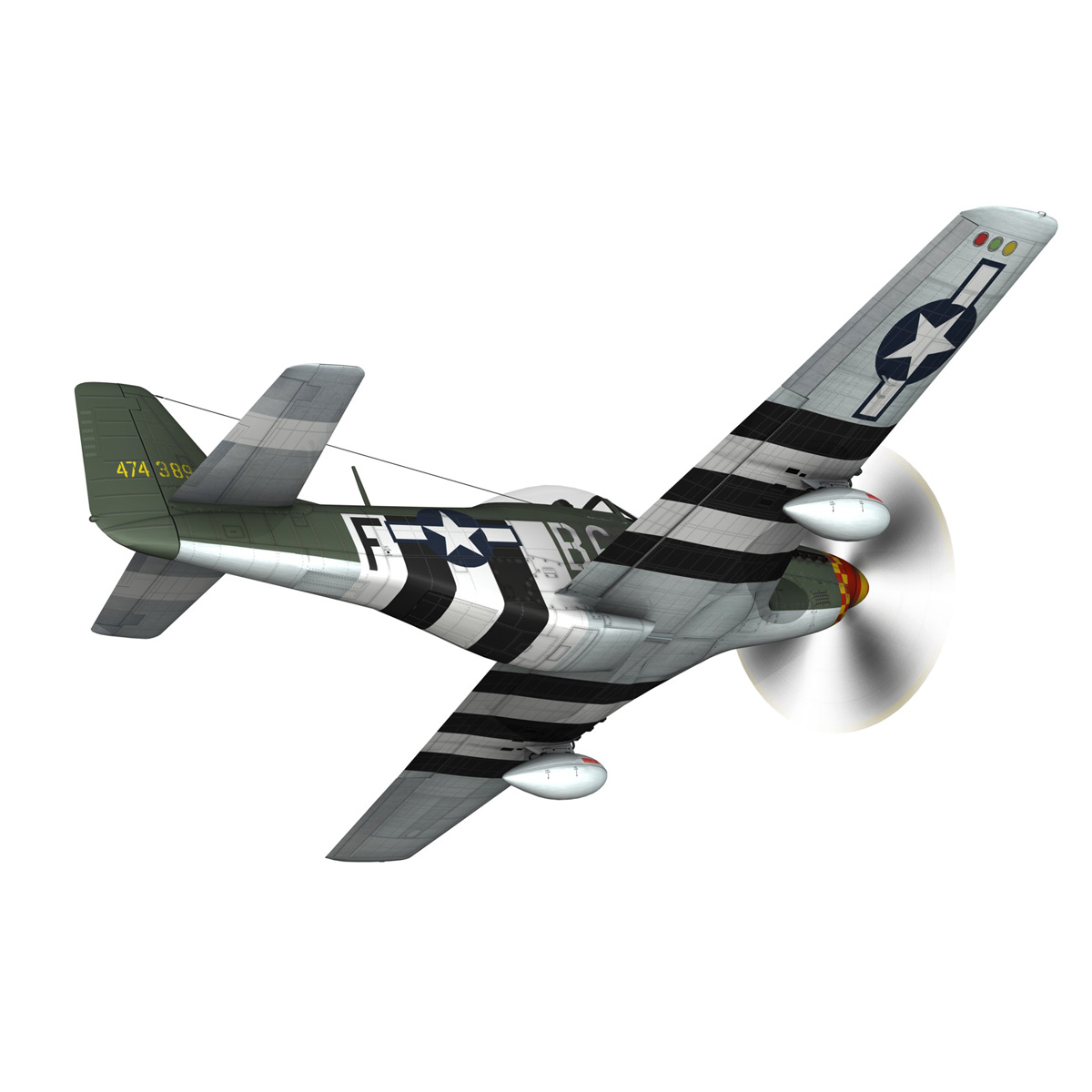 north american p-51d mustang – speedball alice 3d model fbx c4d lwo obj 280314