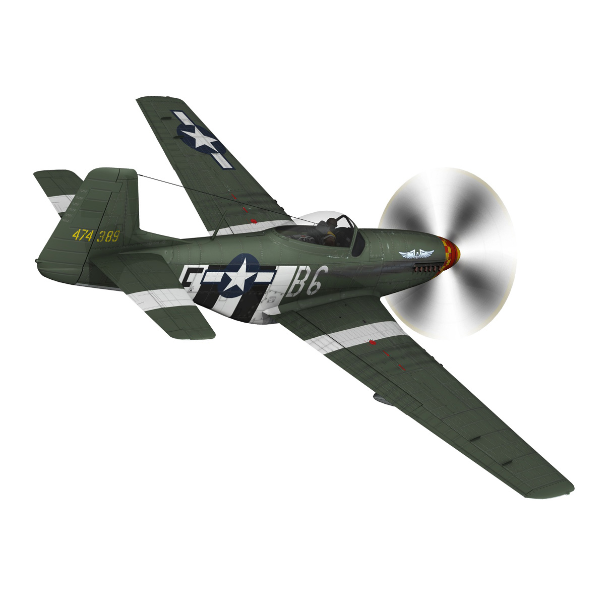 north american p-51d mustang – speedball alice 3d model fbx c4d lwo obj 280315