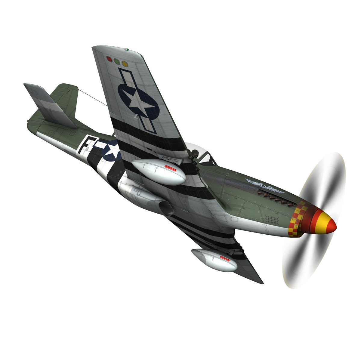 north american p-51d mustang – speedball alice 3d model fbx c4d lwo obj 280316