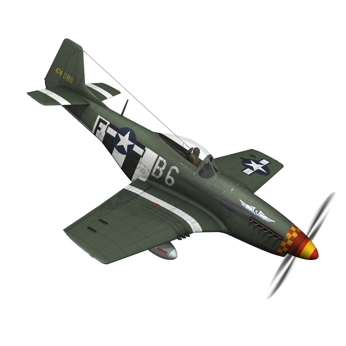 north american p-51d mustang – speedball alice 3d model fbx c4d lwo obj 280317