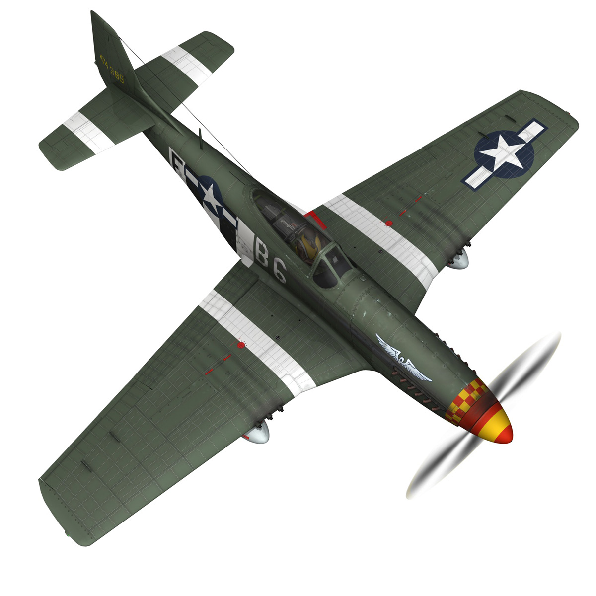 north american p-51d mustang – speedball alice 3d model fbx c4d lwo obj 280318