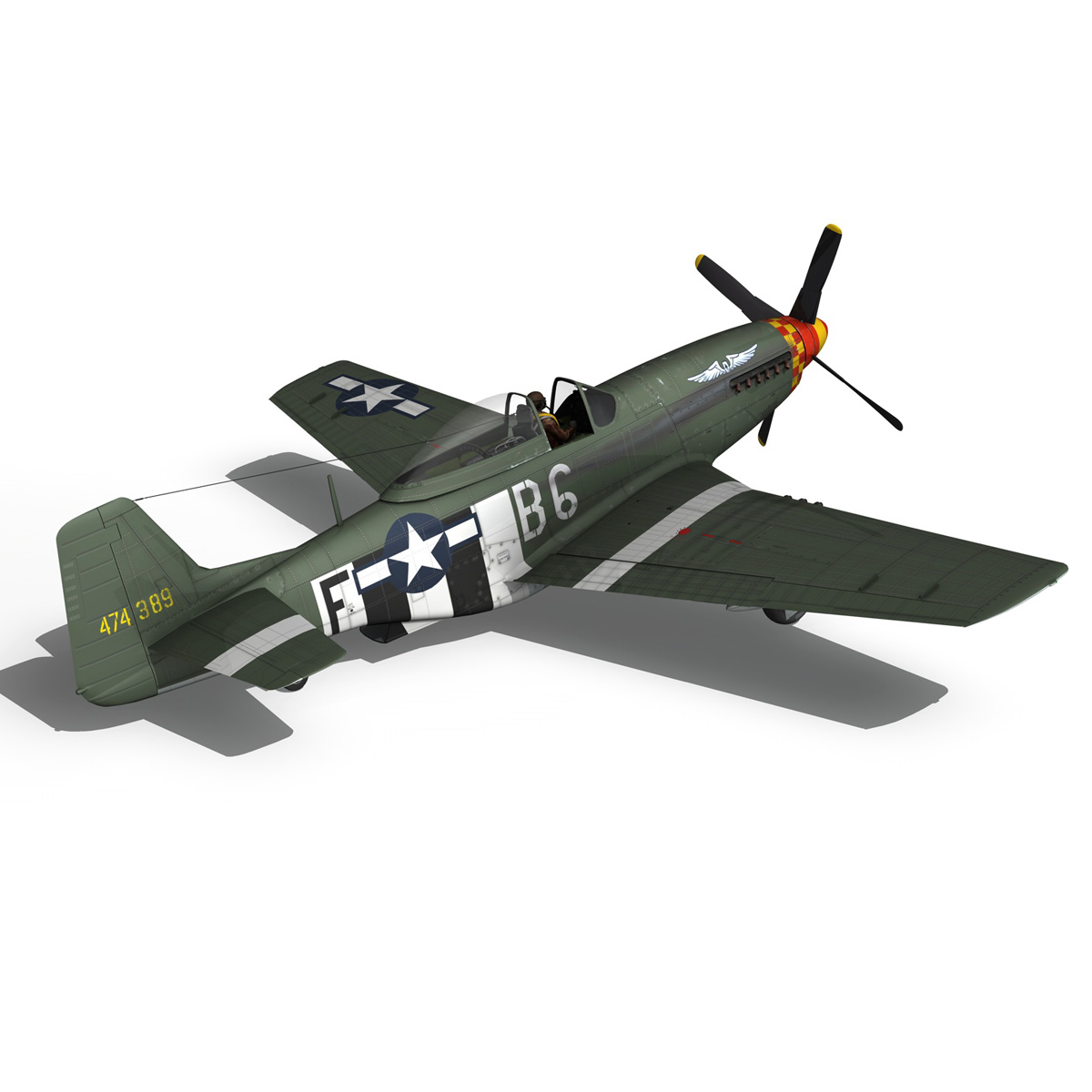 north american p-51d mustang – speedball alice 3d model fbx c4d lwo obj 280322