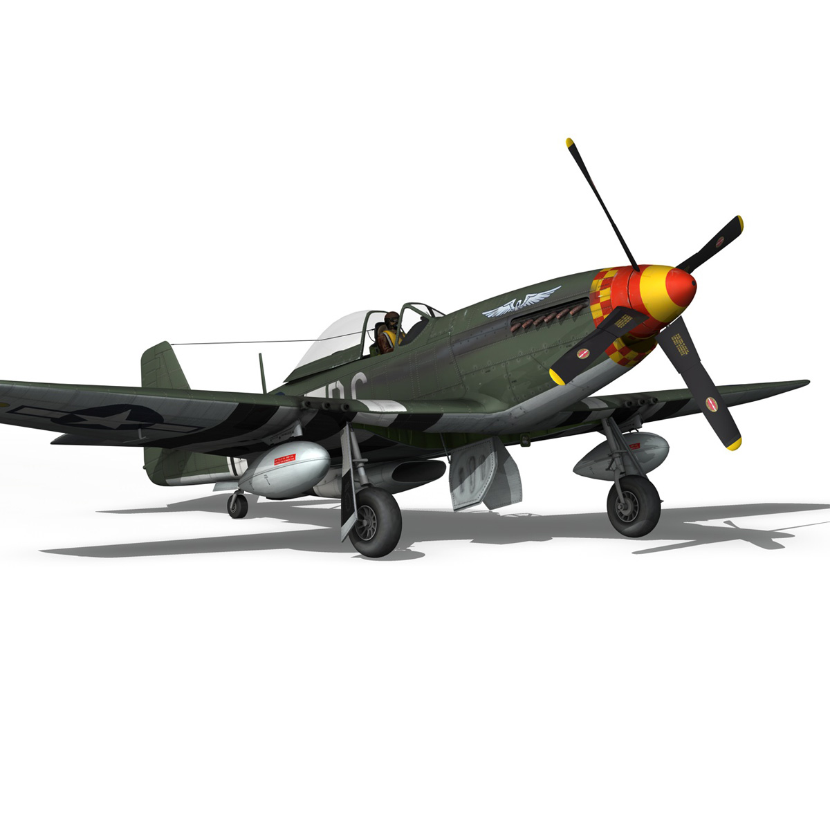 north american p-51d mustang – speedball alice 3d model fbx c4d lwo obj 280323