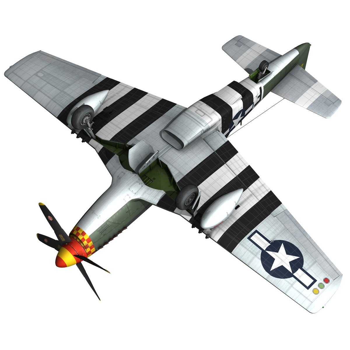 north american p-51d mustang – speedball alice 3d model fbx c4d lwo obj 280325