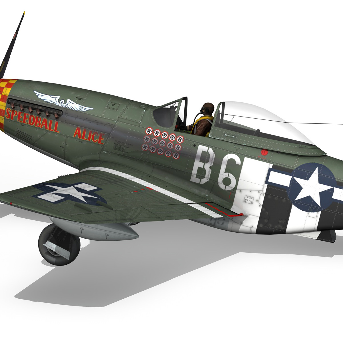 north american p-51d mustang – speedball alice 3d model fbx c4d lwo obj 280327