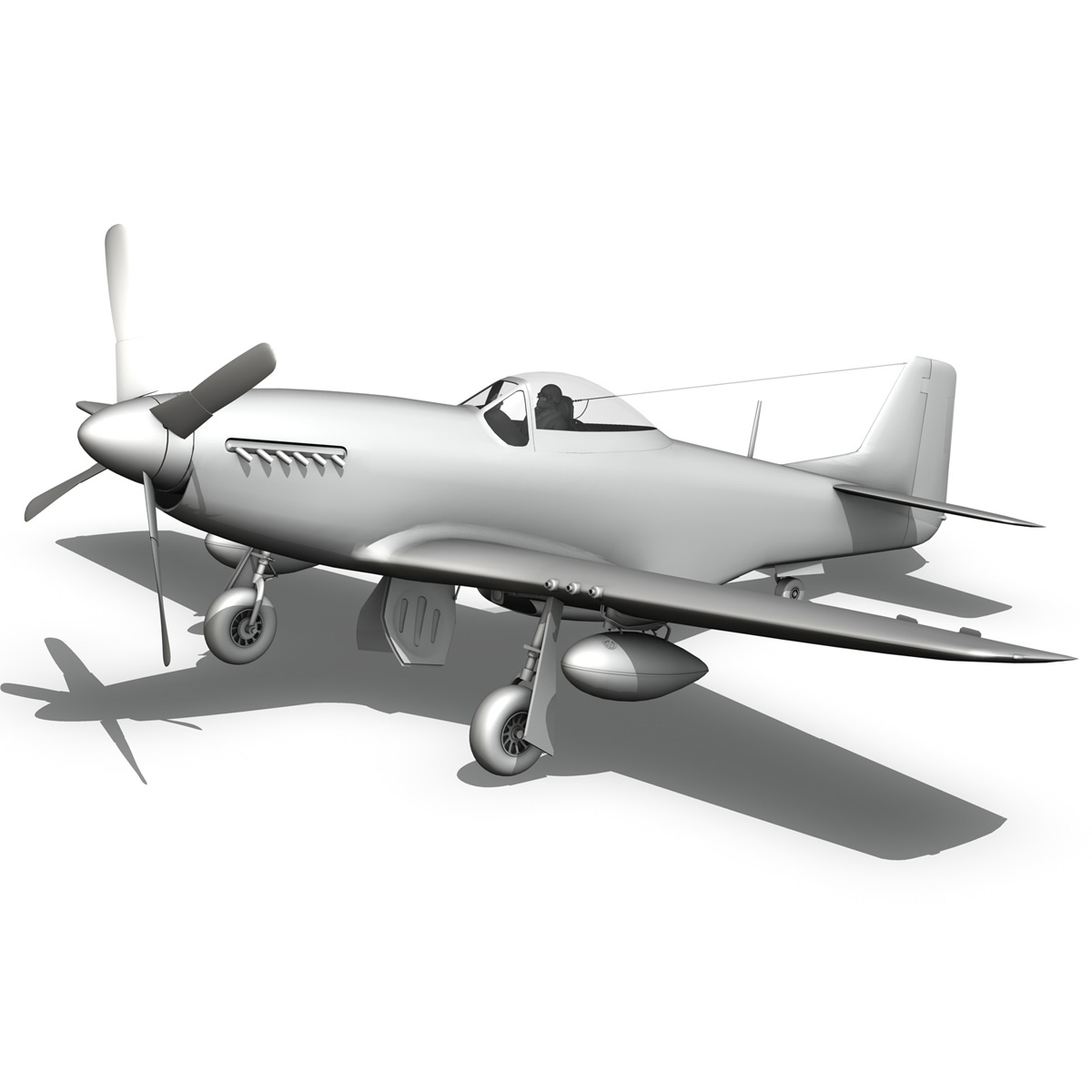 north american p-51d mustang – speedball alice 3d model fbx c4d lwo obj 280328