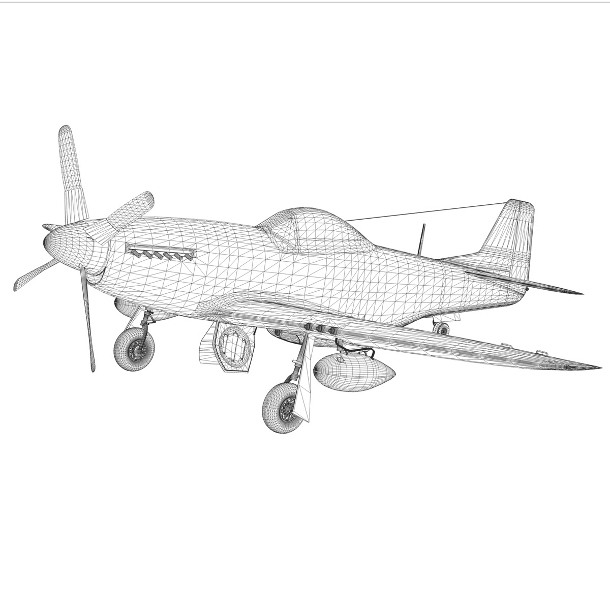 north american p-51d mustang – speedball alice 3d model fbx c4d lwo obj 280329