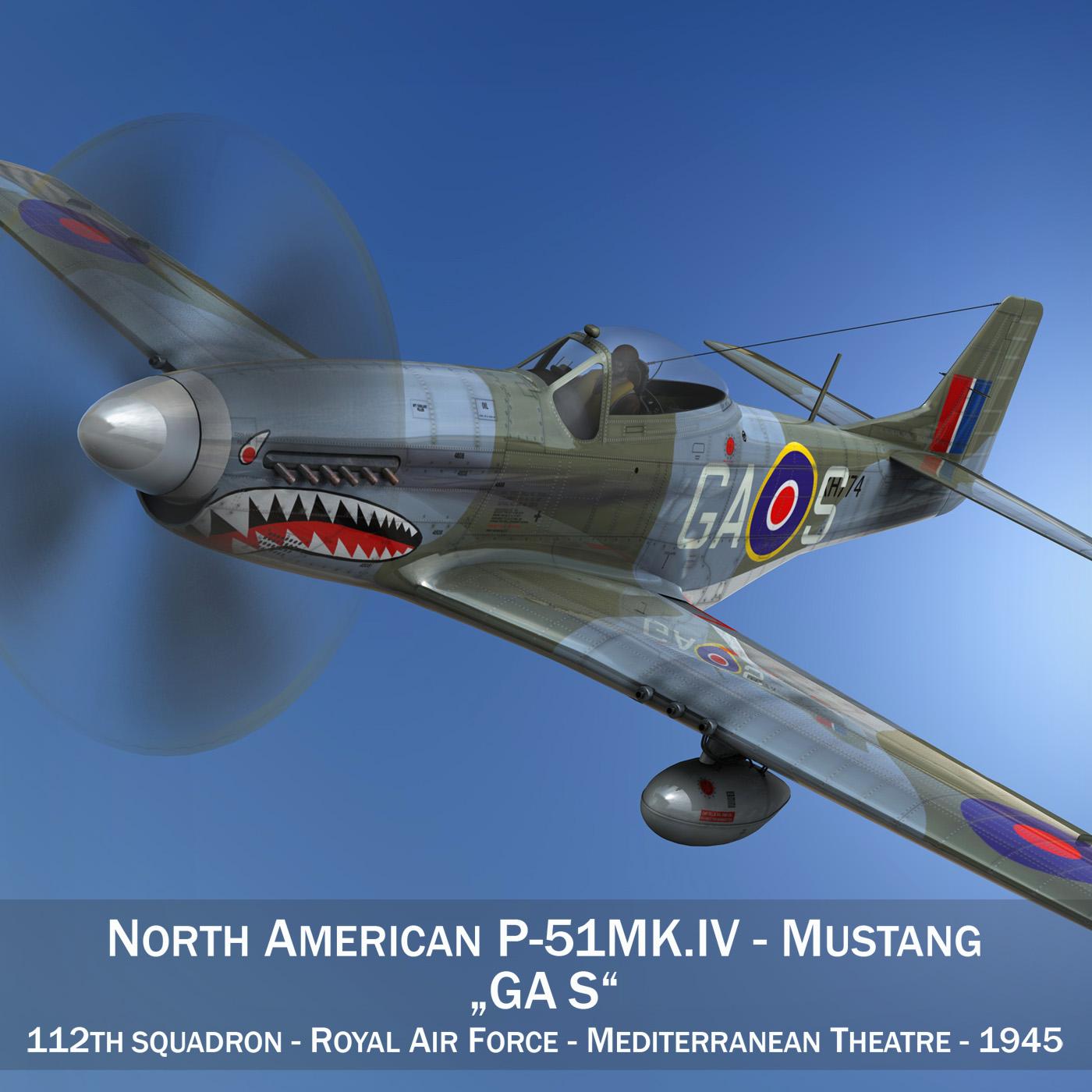 Ziemeļamerikas p-51k mustang mk.iv - raf 3d modelis fbx c4d lwo obj 280336
