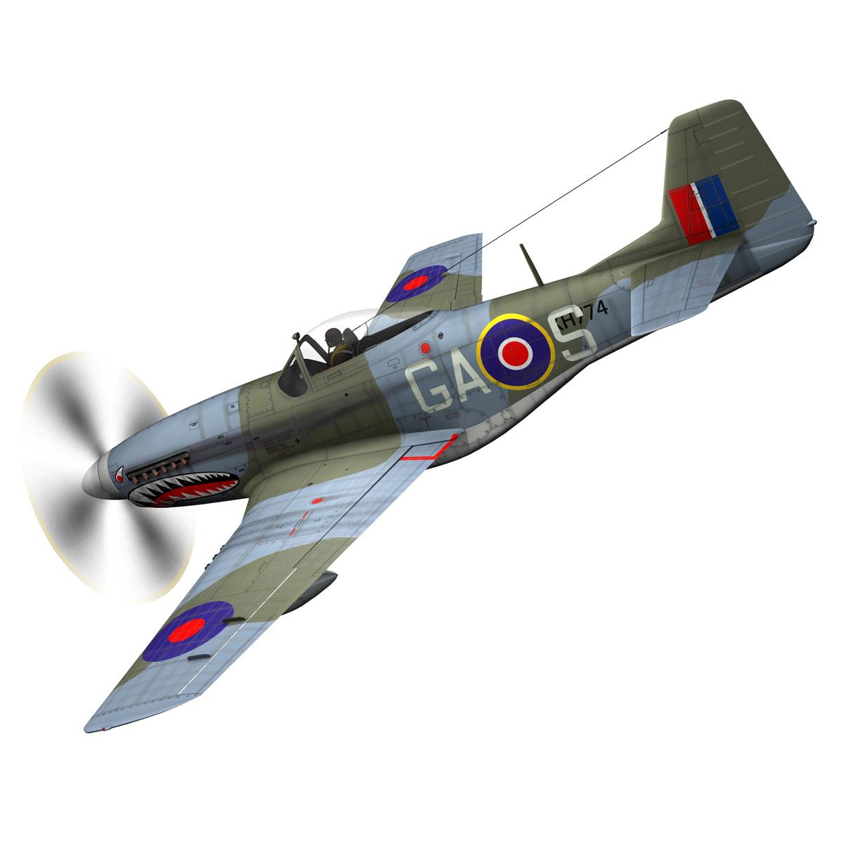 north american p-51k mustang mk.iv – raf 3d model fbx c4d lwo obj 280339