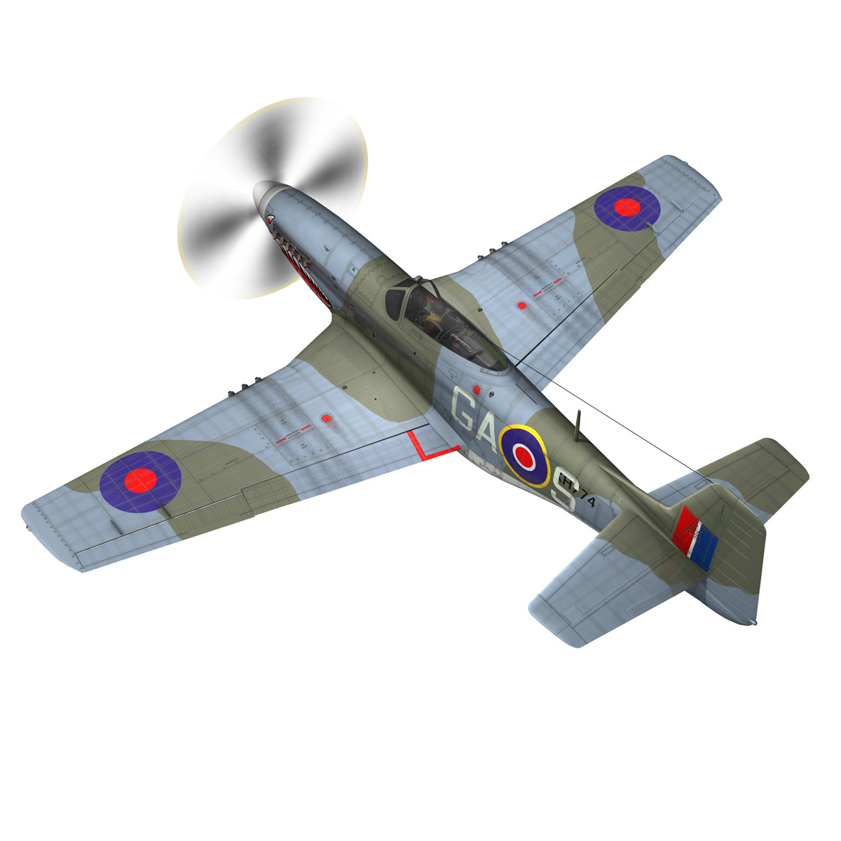 north american p-51k mustang mk.iv – raf 3d model fbx c4d lwo obj 280341