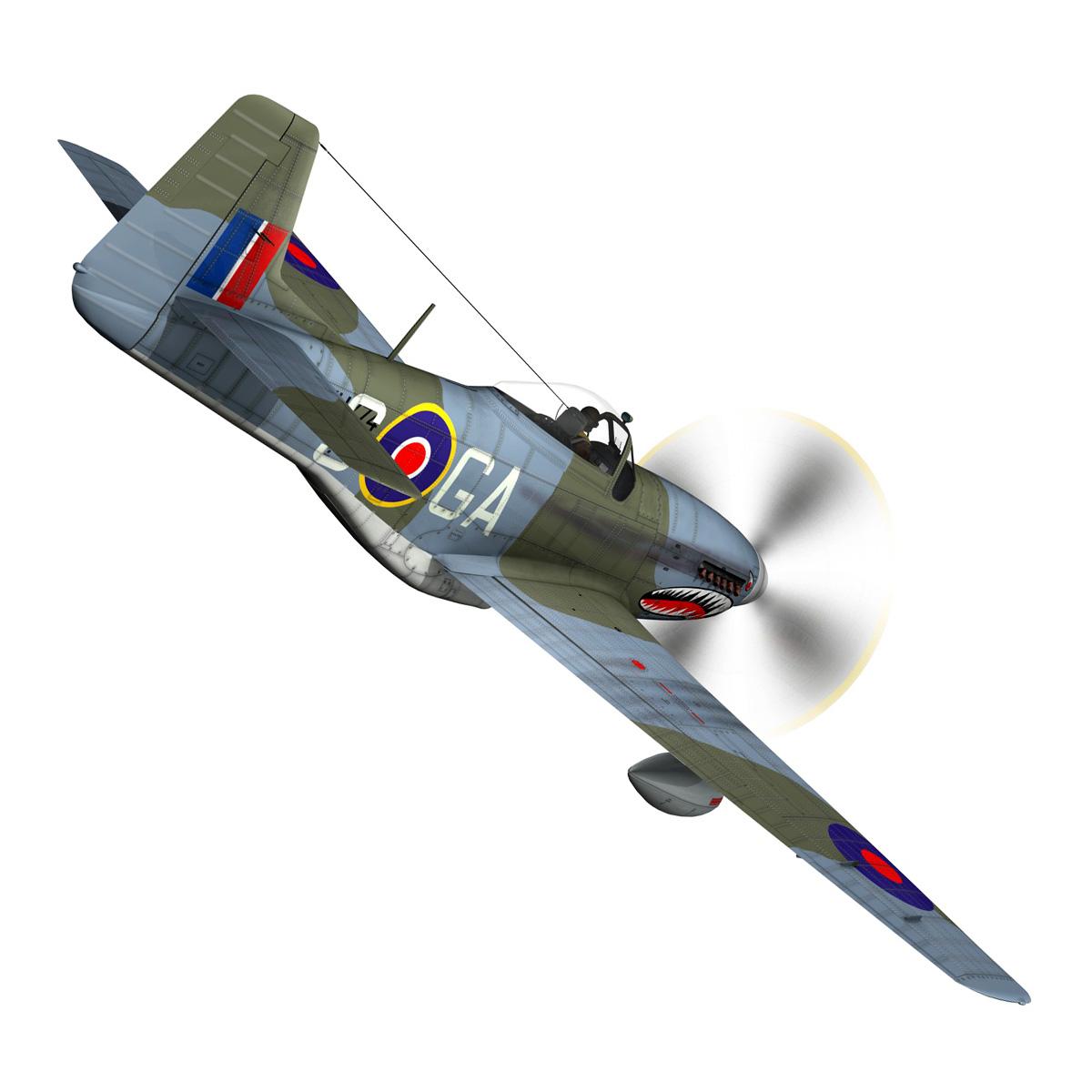 north american p-51k mustang mk.iv – raf 3d model fbx c4d lwo obj 280342