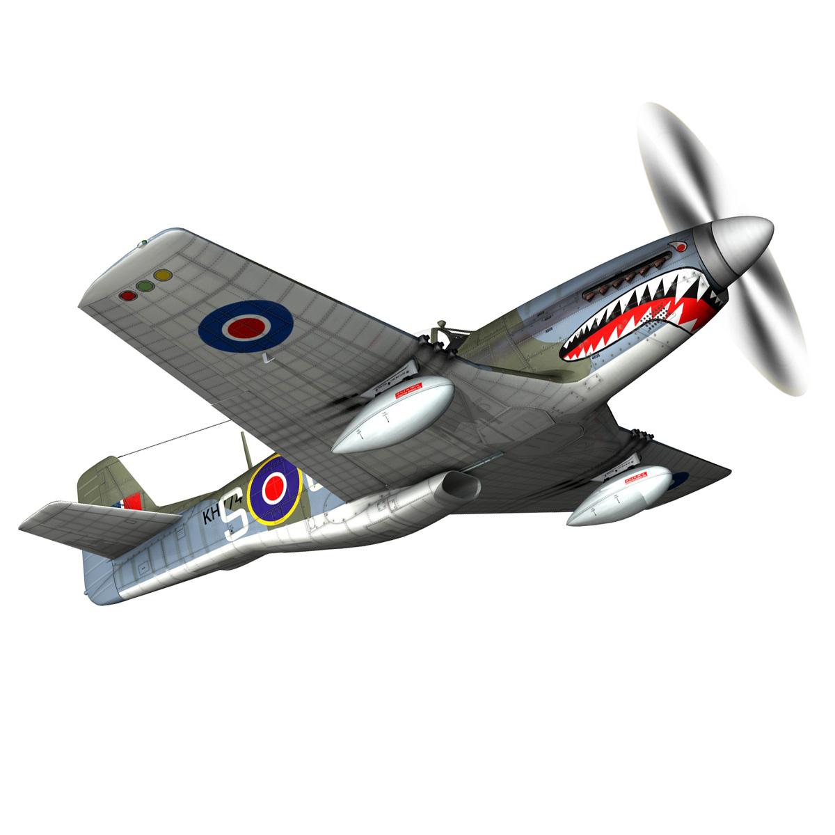 north american p-51k mustang mk.iv – raf 3d model fbx c4d lwo obj 280343
