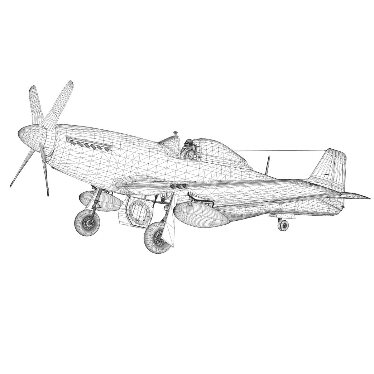 north american p-51k mustang mk.iv – raf 3d model fbx c4d lwo obj 280354