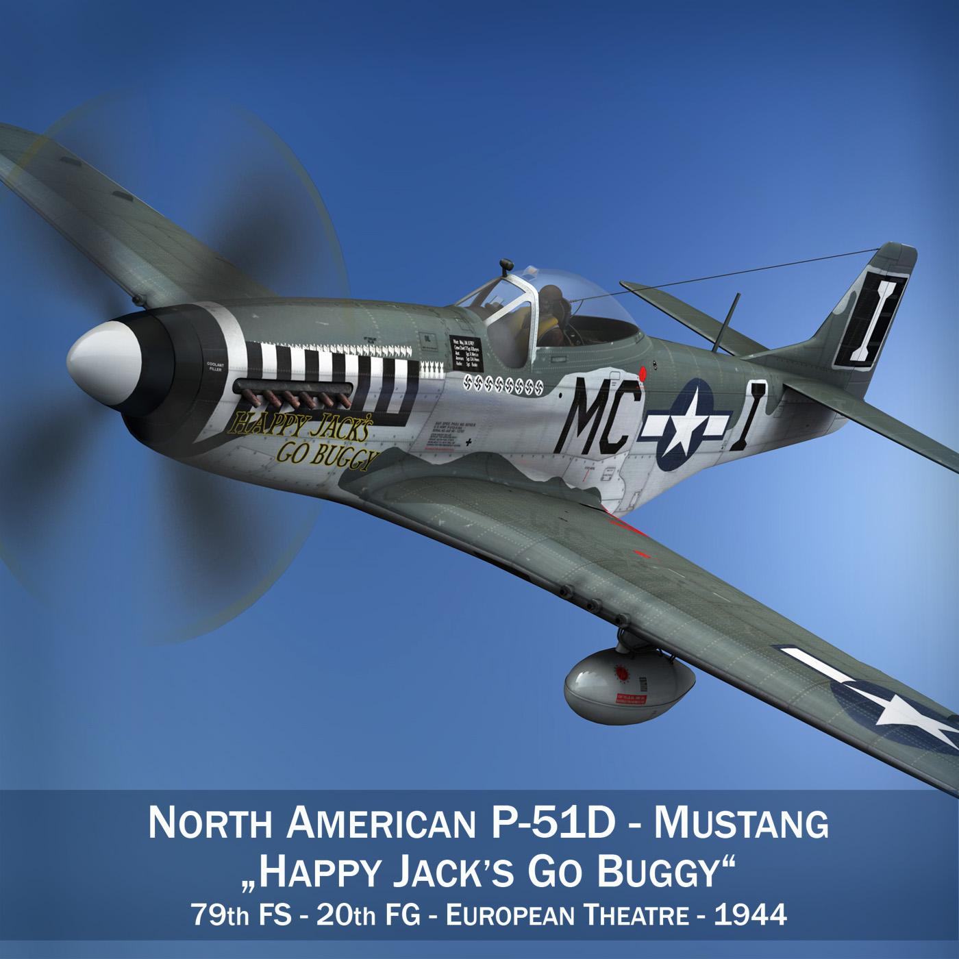 North American P-51 Mustang - Happy Jacks go Buggy 3d model fbx c4d lwo lws lw obj 280360
