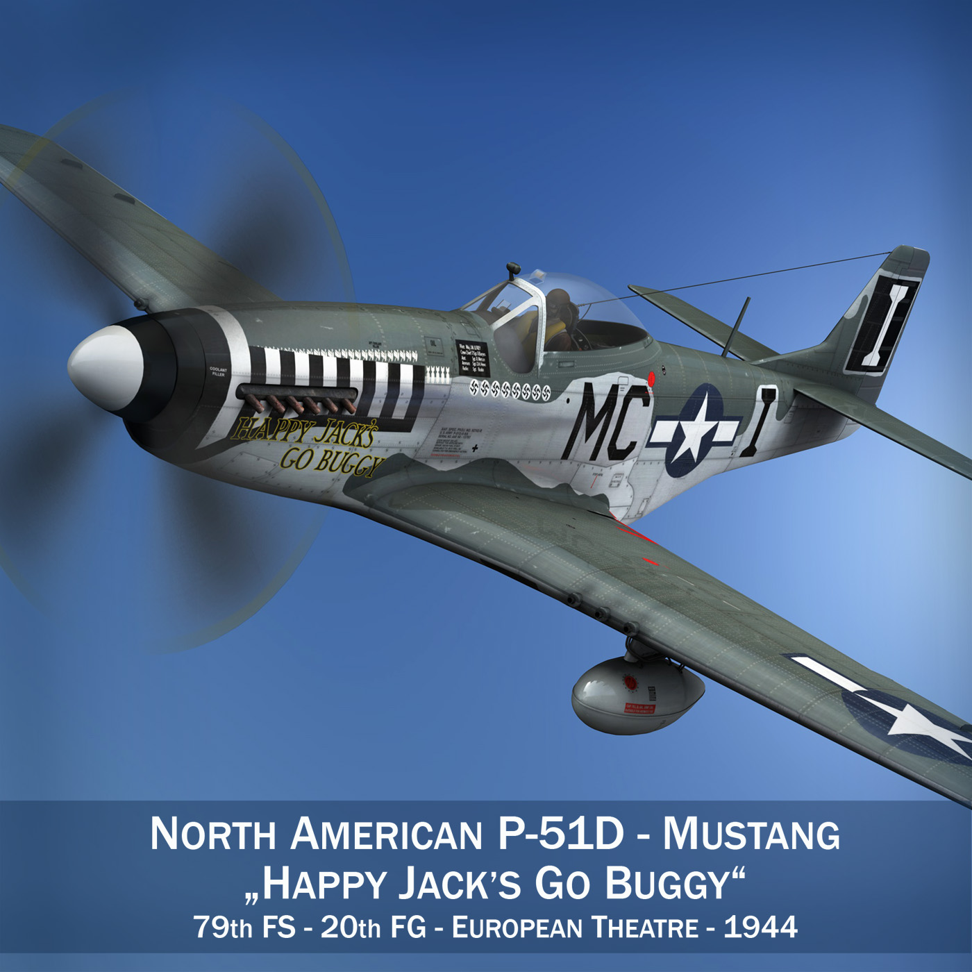 north american p-51 mustang – happy jacks go buggy 3d model fbx c4d lwo obj 280360
