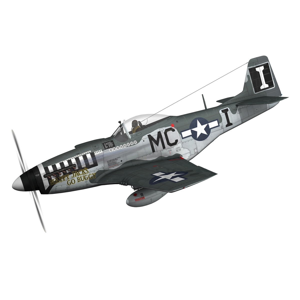 north american p-51 mustang – happy jacks go buggy 3d model fbx c4d lwo obj 280361