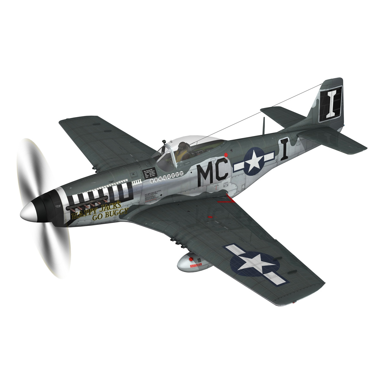 north american p-51 mustang – happy jacks go buggy 3d model fbx c4d lwo obj 280362