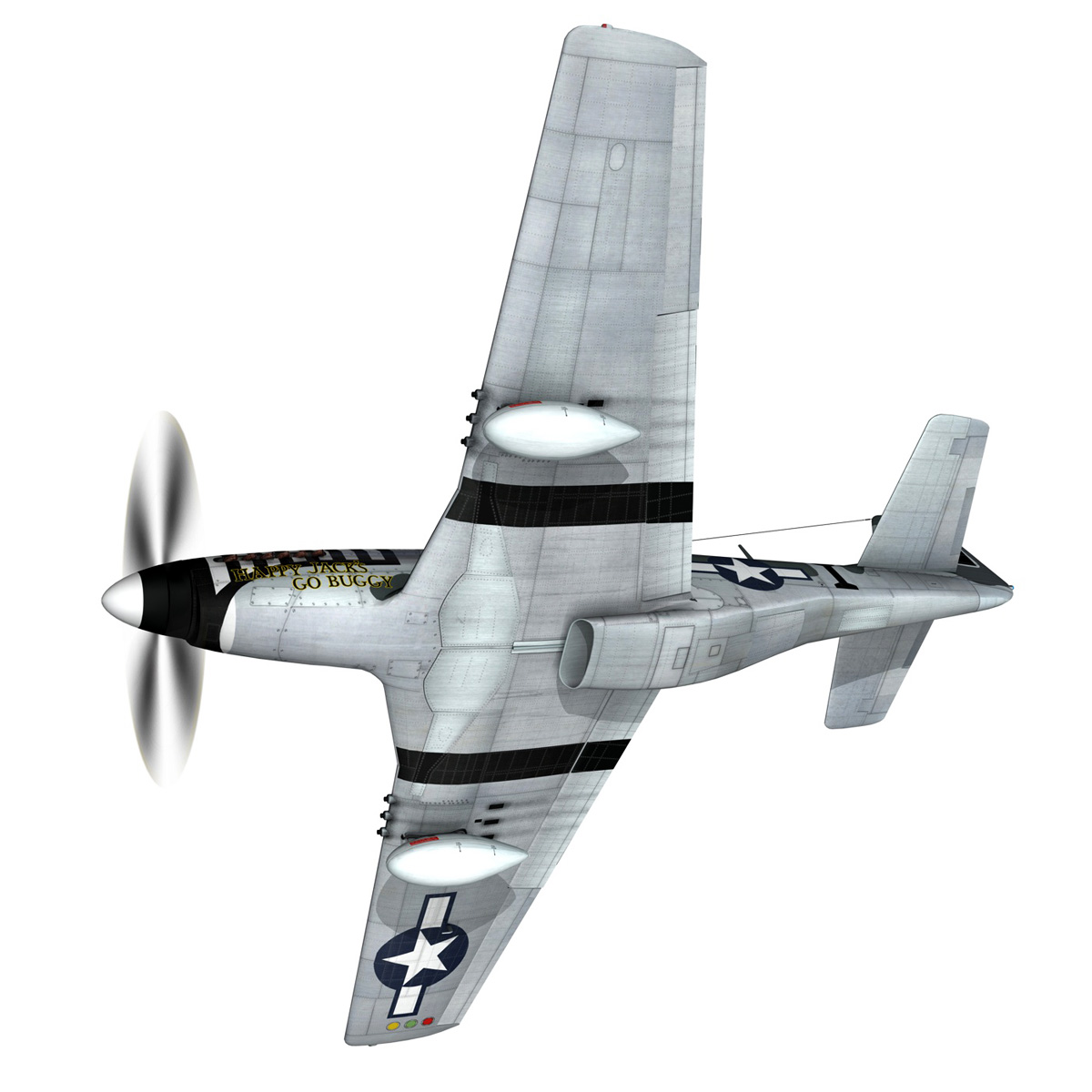 north american p-51 mustang – happy jacks go buggy 3d model fbx c4d lwo obj 280363
