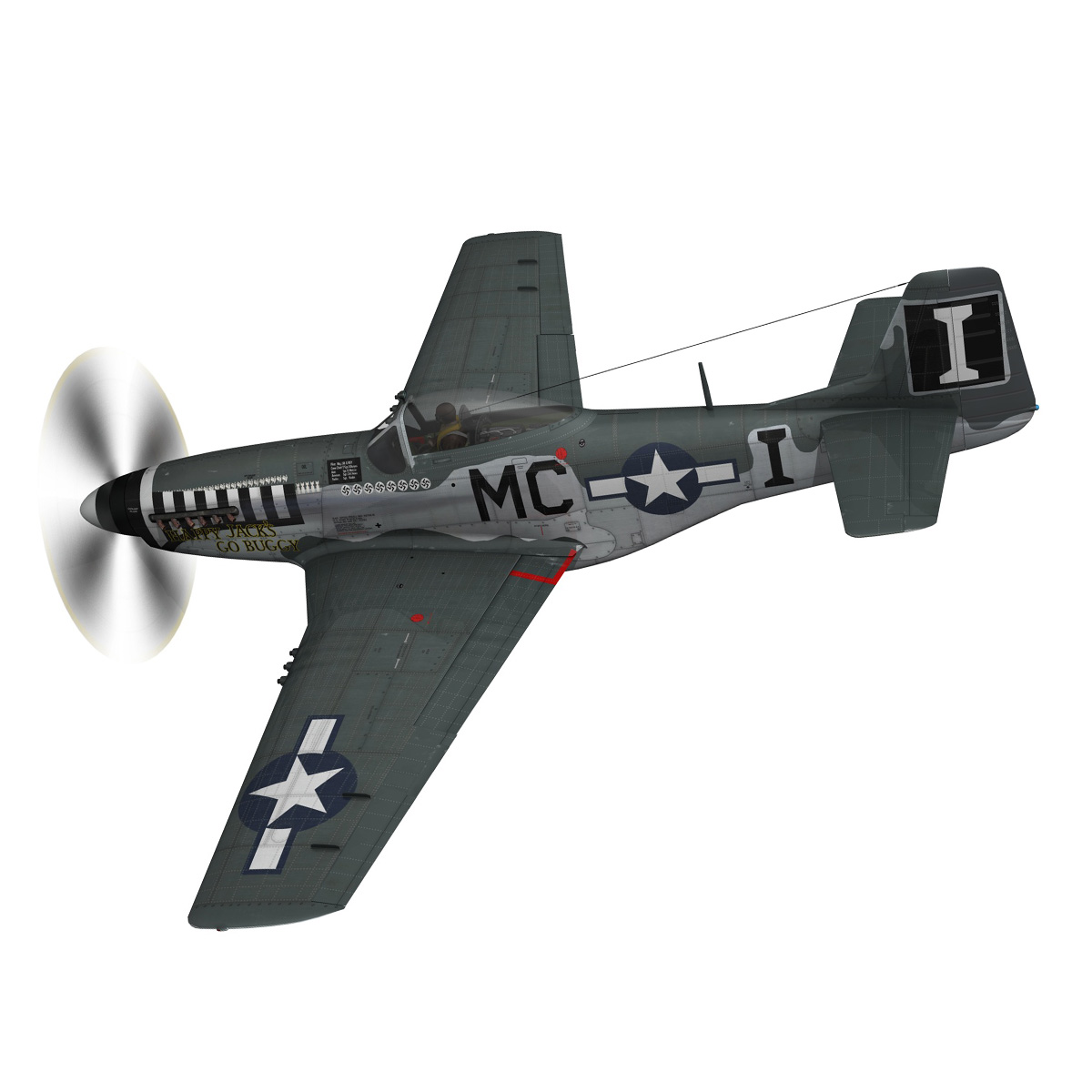 north american p-51 mustang – happy jacks go buggy 3d model fbx c4d lwo obj 280364