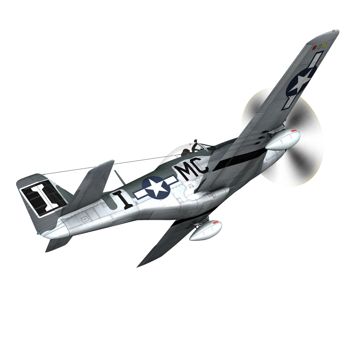 north american p-51 mustang – happy jacks go buggy 3d model fbx c4d lwo obj 280365