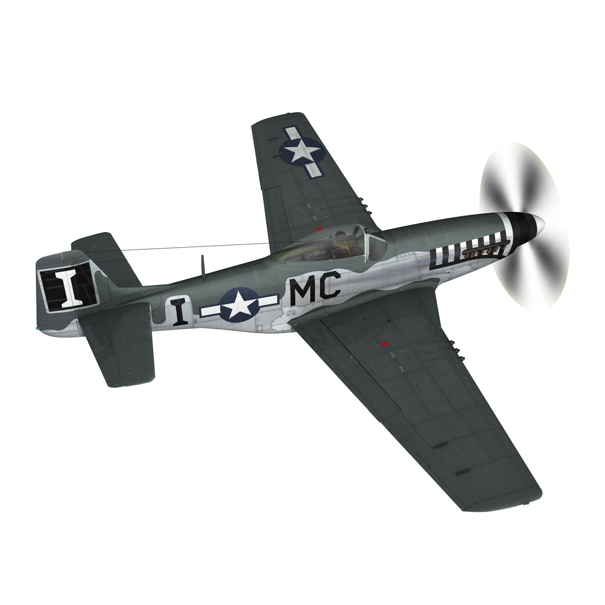 north american p-51 mustang – happy jacks go buggy 3d model fbx c4d lwo obj 280366
