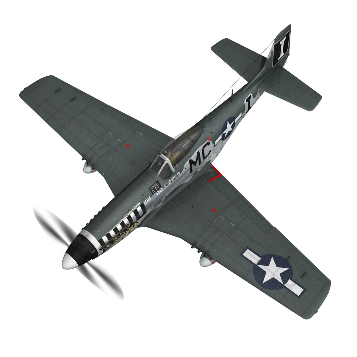 north american p-51 mustang – happy jacks go buggy 3d model fbx c4d lwo obj 280367