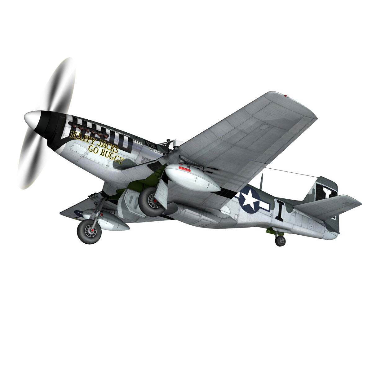 north american p-51 mustang – happy jacks go buggy 3d model fbx c4d lwo obj 280368
